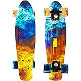 22 Penny Style Skateboard Complete Street Retro Cruiser Print Deck