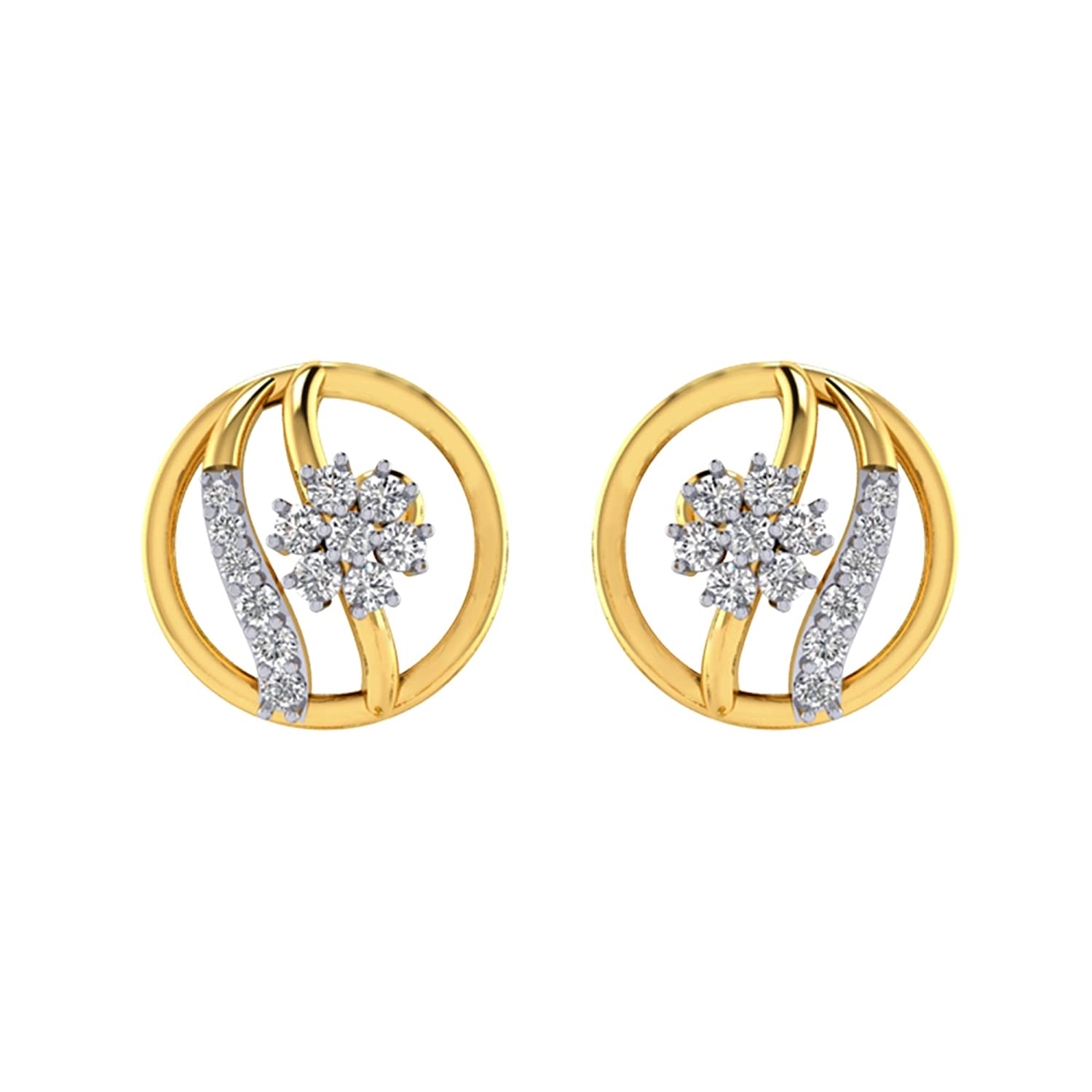 Buy Cygnus Cluster Collection 18k 750 Yellow Gold and Diamond Stud