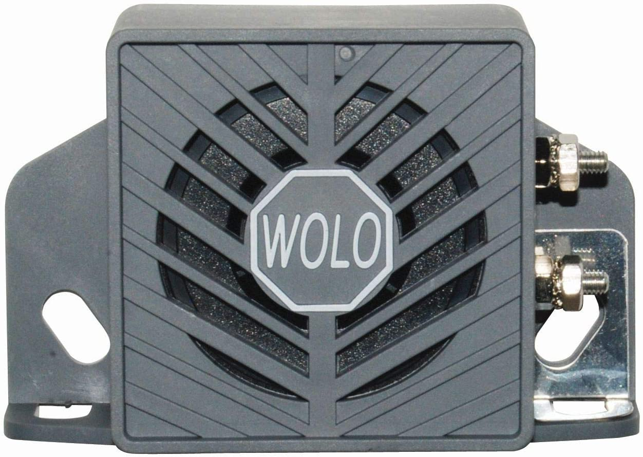 12-24-volts 97 Db PSSS Sound White Noise - Designed for California Vehicles PULSING PSSS Wolo BA-197WN Back-Up Alarm