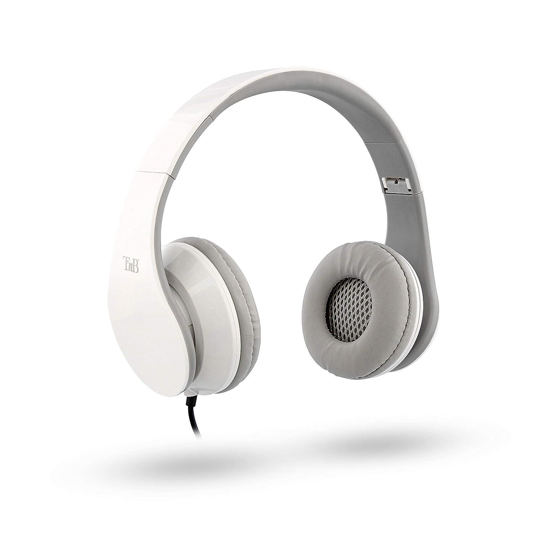 T'nB Stream Wiredヘッドフォンホワイト B07HXKK67C