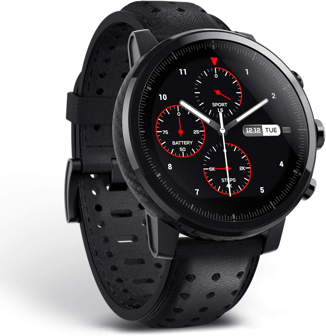 Amazfit Stratos 2s reloj inteligente premium multideporte con GPS impermeable Fitness actividad Tracker, Hearth Rate Podómetro para iOS y Android dispositivo, seguimiento 12 + diferentes modos