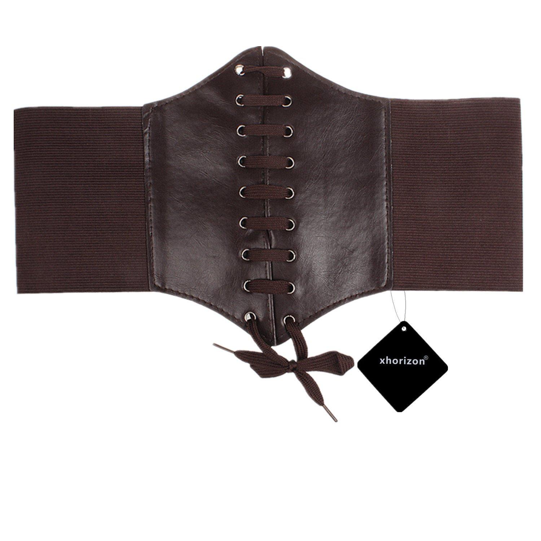 xhorizon TM FX Damen Frauen Spitzen-up Korsett Stil elastischen Cinch-Gürtel Hüftgurt