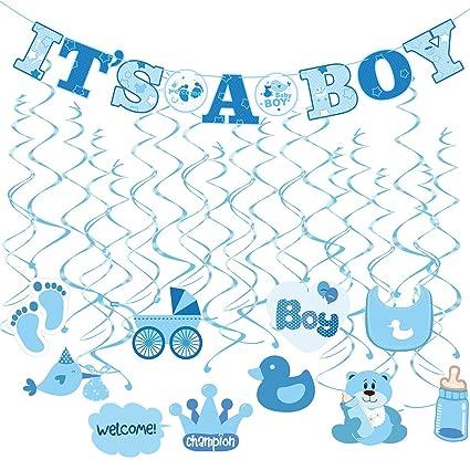 Amazon Tinksky 30pcs Its A Boy Banner Boy Baby Shower Dizzy