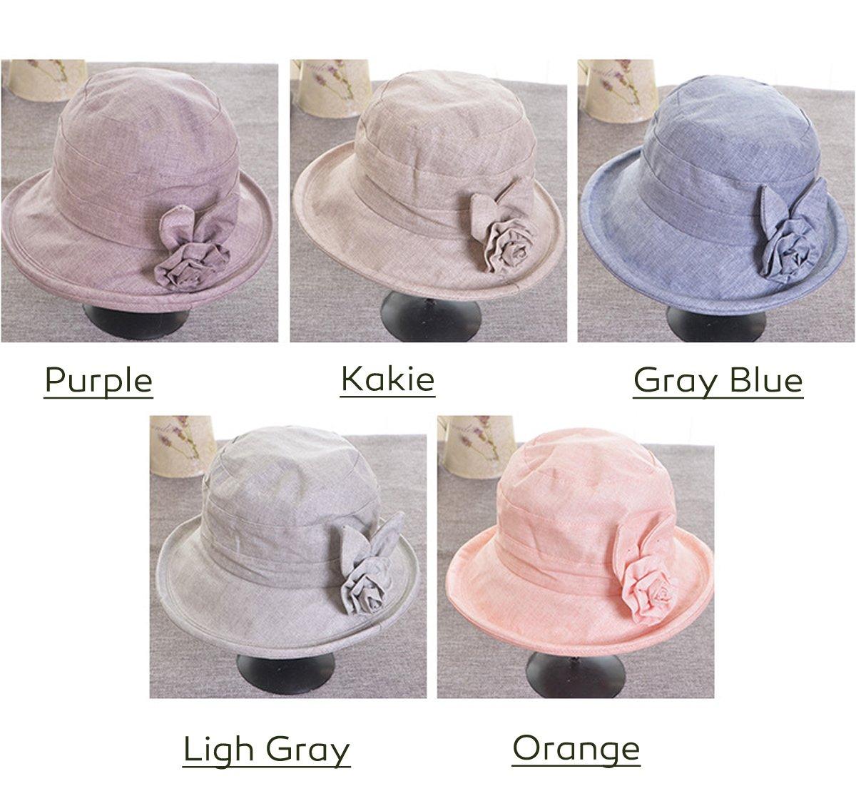 HAPEE Womens Garden Sun Hat,UPF 50+ Summer Hats for Ladies,Butterfly GrayBlue