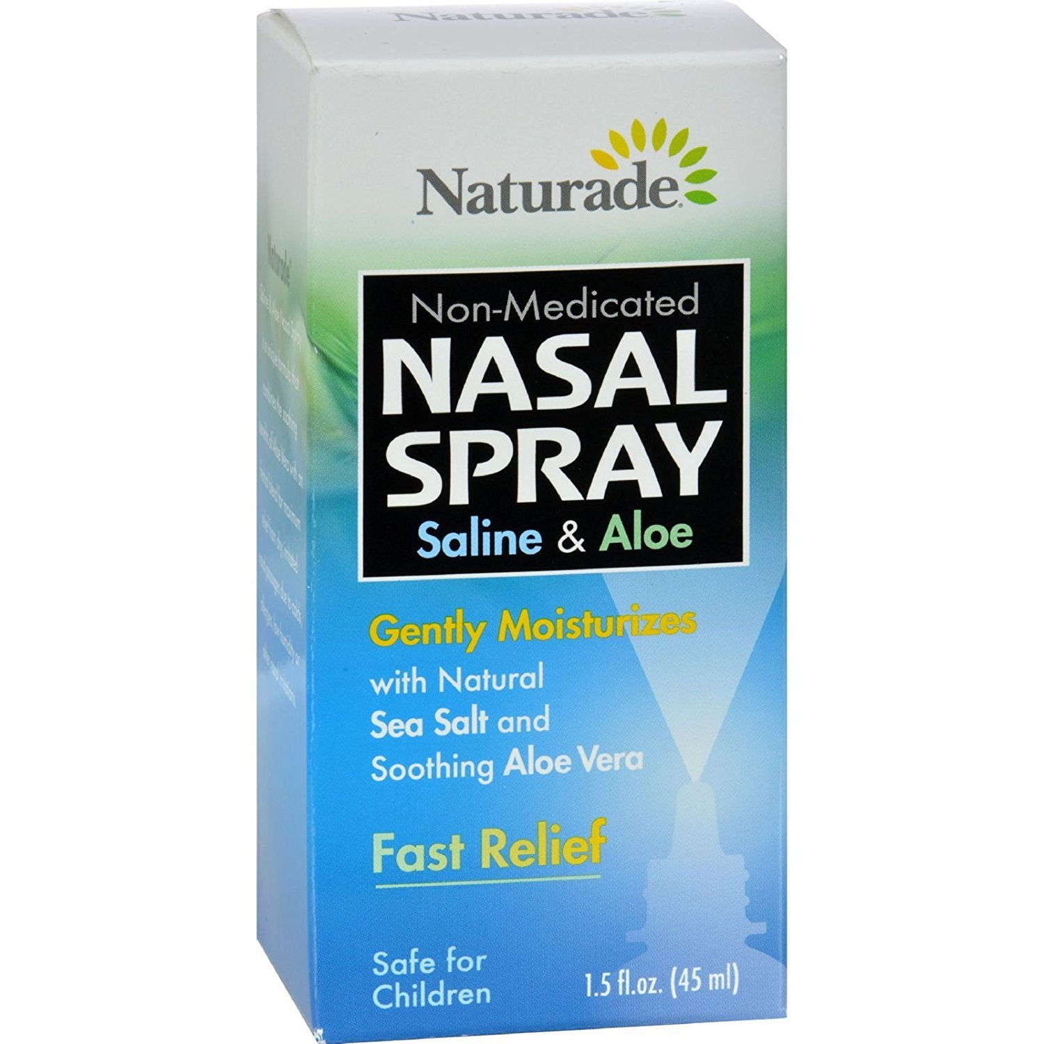 NATURADE SALINE & ALOE NASAL SPRAY, 1.5 FZ , 6 pack by Naturade