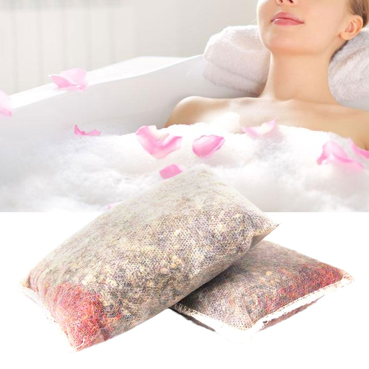 Lurrose 10PCS Chinese Medcine Bath Bags Original All-Natural Bath Tea to Help with Stress Sore Muscles and Better Sleep