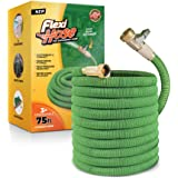 Flexi Hose Lightweight Expandable Garden Hose   Ultimate No-Kink Flexibility - Extra Strength with 3/4 Inch Solid Brass…