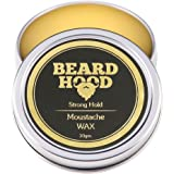 Beardhood 100% Natural Mustache And Beard Wax For Strong Hold | Natural Musky Scent 30G