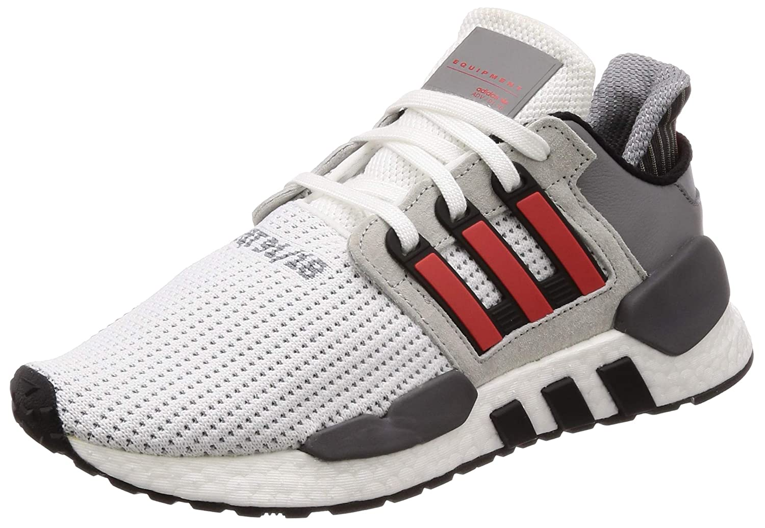 adidas Originals EQT Support 91/18, Footwear White-Hi-res Red-Grey Two, 13,5