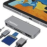 TWOPAN USB C Hub for iPad Pro/24 inch iMac 2021, 5-in-1 USB C Docking Station, USB C to HDMI Hub with USB C PD 3.0 Charging,