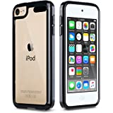 iPod Touch 6 Case,iPod Touch 5 Case,ULAK [CLEAR SLIM] Hybrid Premium Clear Bumper TPU/Scratch Resistant Hard PC Back Cover/Corner Shock Absorption Case for Apple iPod Touch 5 6th Gen_Black