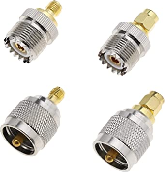 SMA a HUF - Adaptador para receptor de radio de antena de coche PL259 SO239