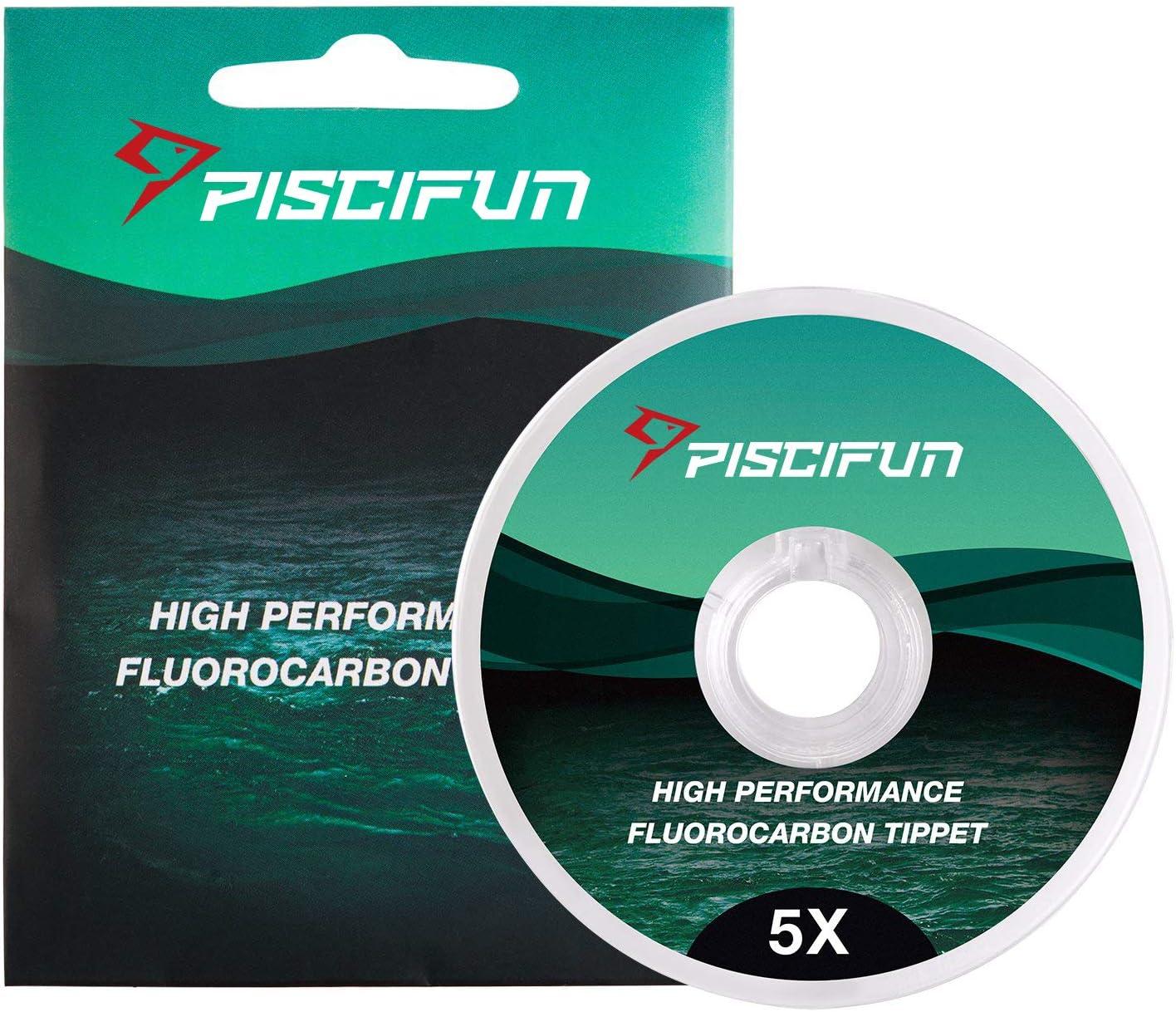 R/ésistance /à labrasion sup/érieure /à 30 m 0X//1X//2X//3X//4X//5X//6X Piscifun Pointe de p/êche /à la mouche fluorocarbone Basse visibilit/é