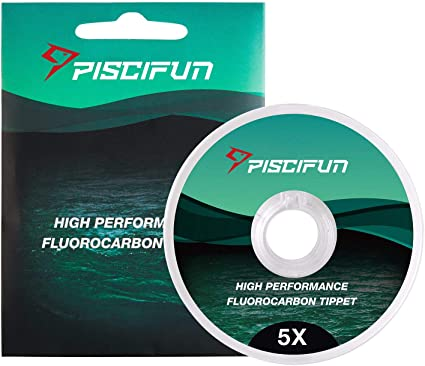 1 Spool 50M 4X //6X Fluorocarbon Fly Fishing Tippet Material Tackle Gear with Box