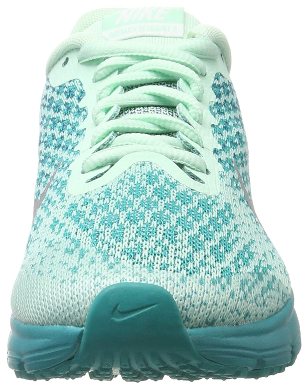 Air Max Sequent 2 GS, Zapatillas de Gimnasia para Niños, Verde (Mint Foam/Metallic Silver/Blustery/Turbo Green), 38 EU Nike