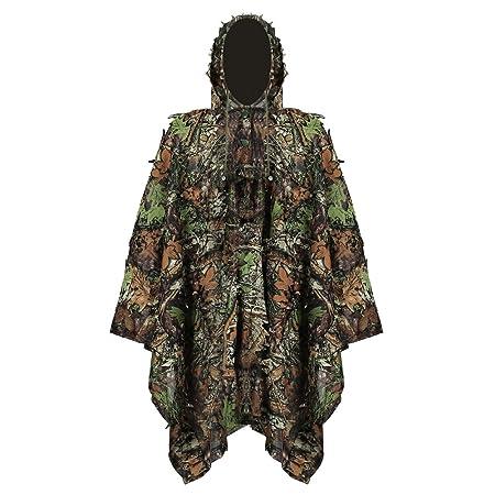 Jagen Verstecken von Spielen 3D Jungle Ghillie Suit Tarnkleidung Camouflage Kleidung Geeignet zum Outdoor Pellor Tarnanzug