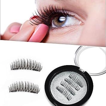 4e97bbf25d0 Amazon.com : Premier Automne Magnetic False Eyelashes Reusable Magnet  Quality Eyelashes Extensions Set 1 Pair/4Pcs : Beauty