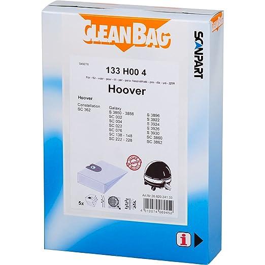CleanBag 133 Hoo 4 bolsas de aspiradora, contenido: 5 bolsas ...