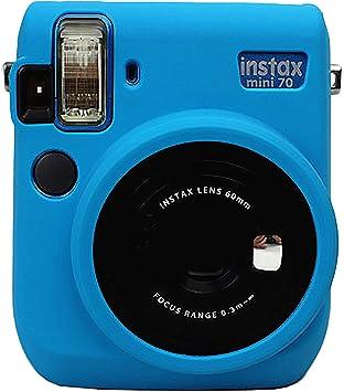 Funda de Silicona Protectora del Gel de Goma Suave Cámara Bolsa de Mini 70 cámara Azul: Amazon.es: Electrónica