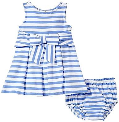 0c7ba2e27 Kate Spade New York Girls' Babies' Jillian Dress and Bloomer Set,  Periwinkle/