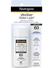 Neutrogena Daily Face Sunscreen SPF 60, Ultra Sheer Water-Light Sunblock, Non-Comedogenic and Water Resistant, Travel Size, 40 mL