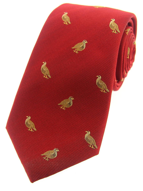Soprano rojo país de pájaro Woven Silk Tie: Amazon.es: Ropa y ...