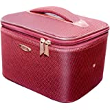 Pride Fabric Maroon Hybrid Sided Luggage Cosmetic Cases