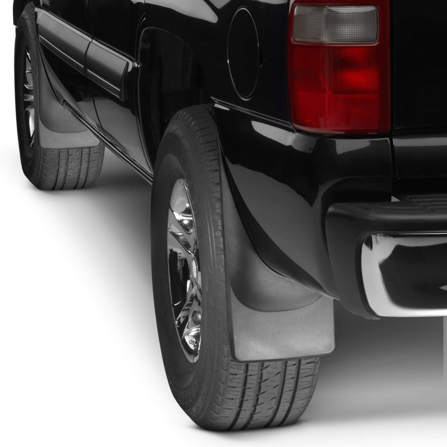 All Weather WeatherTech No-Drill MudFlaps for 2019 RAM 1500 No Fender Flares Full Set