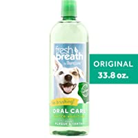 Fresh Breath by TropiClean Oral Care Water Additive for Pets, 33.8oz - Made in USA