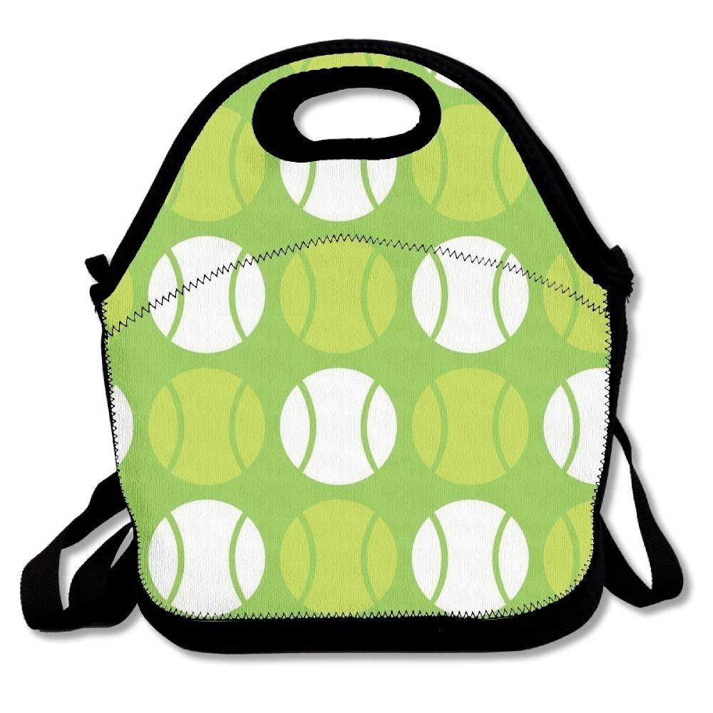 グリーンテニスボールランチトートバッグバッグAwesomeランチボックスハンドバッグ弁当箱学校用作業アウトドア   B07DZRRKNJ