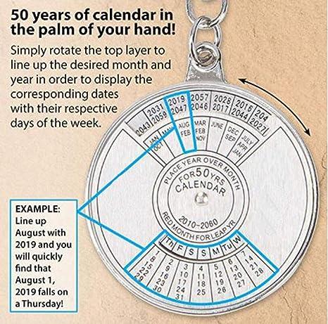 Calendario 2060.Stealodeal Perpetual Calendar Circular 50 Years 2010 2060