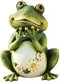 Joseph Studio 65904 Tall Frog Sitting Up Garden Statue, 9.5-Inch