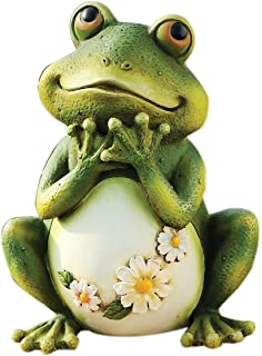 Joseph Studio 65904 Tall Frog Sitting Up Garden Statue, 9.5 Inch