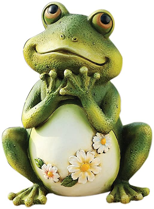 Atecy 45500226 Joseph Studio 65904 Tall Frog Sitting Up Garden Statue, 9.5-Inch, 9.5 inches green