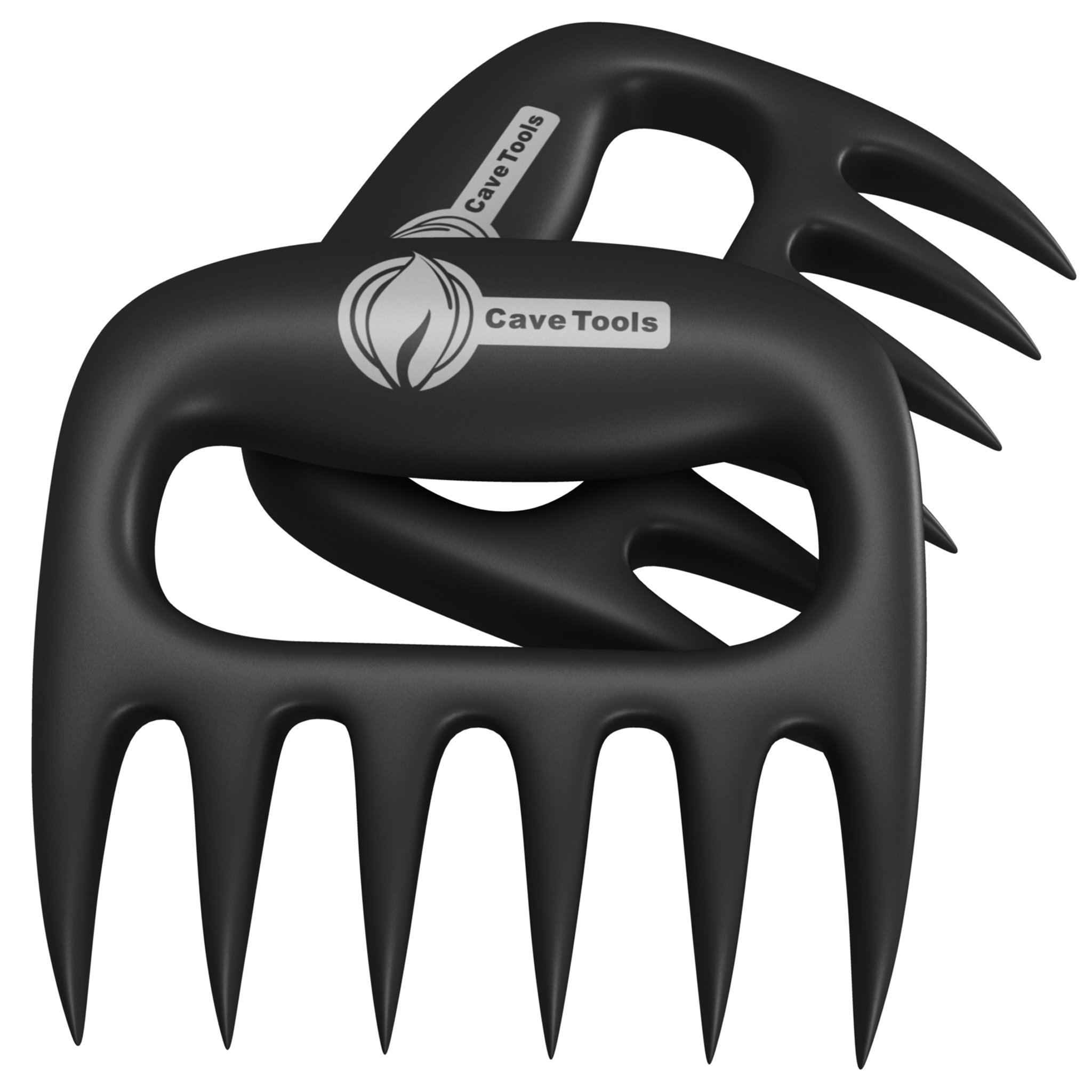 Pulled Pork Shredder Claws - Strongest BBQ Meat Forks - Shredding Handling & Carving Food - Claw Handler Set for Pulling Brisket from Grill Smoker or Slow Cooker - BPA Free Barbecue Paws by Cave Tools
