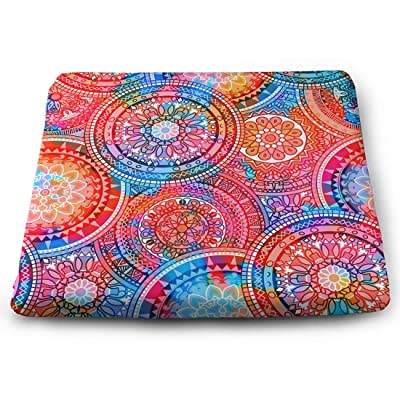 Tinmun Square Cushion, Multicolor Pattern Oriental Mandalas Hippie Large Pouf Floor Pillow Cushion for Home Decor Garden Party: Home & Kitchen