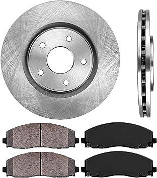 KT172642 OE Series Rotors + Ceramic Pads Max Brakes Rear Premium Brake Kit Fits 2012-2017 Grand Caravan Journey w//328mm Rear rotors