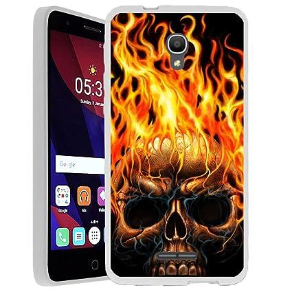 Amazon.com: alc5056 X uttpu-set03, Calavera en llamas ...