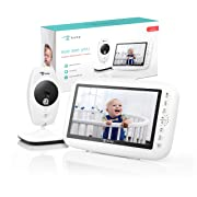 """EyeBaby Video Baby Monitor with Camera (7"""" LCD Screen) Advanced Privacy, Real-Time Streaming Wireless Display 