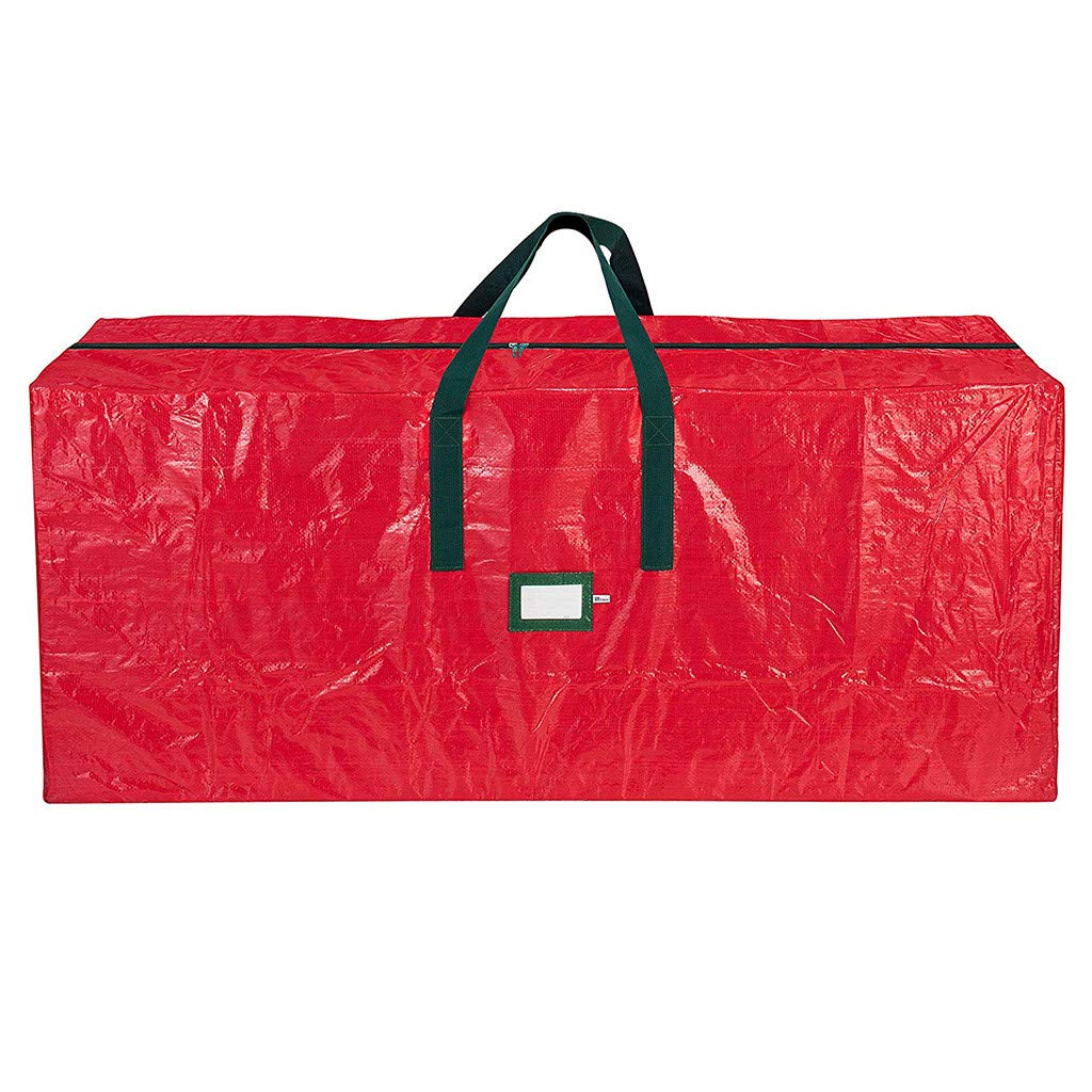 48x 15 x 20, Red Large Capacity Xmas Tree Bag with Durable Reinforced Handles,Waterproof,Dust Gallity Christmas Tree Storage Bag,Heavy Duty Artificial Tree Storage Bag Moisture