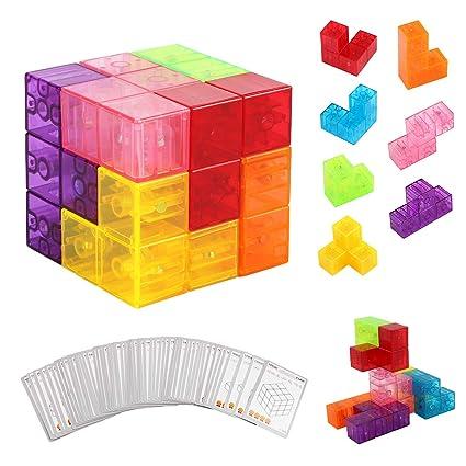PROACC magnéticos Cubo mágico Puzzle, Bloques de ...