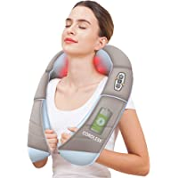 Snailax Cordless Neck Massager with Heat - Shiatsu Neck and Shoulder Back Massager, Portable Wireless Massagers for Neck…