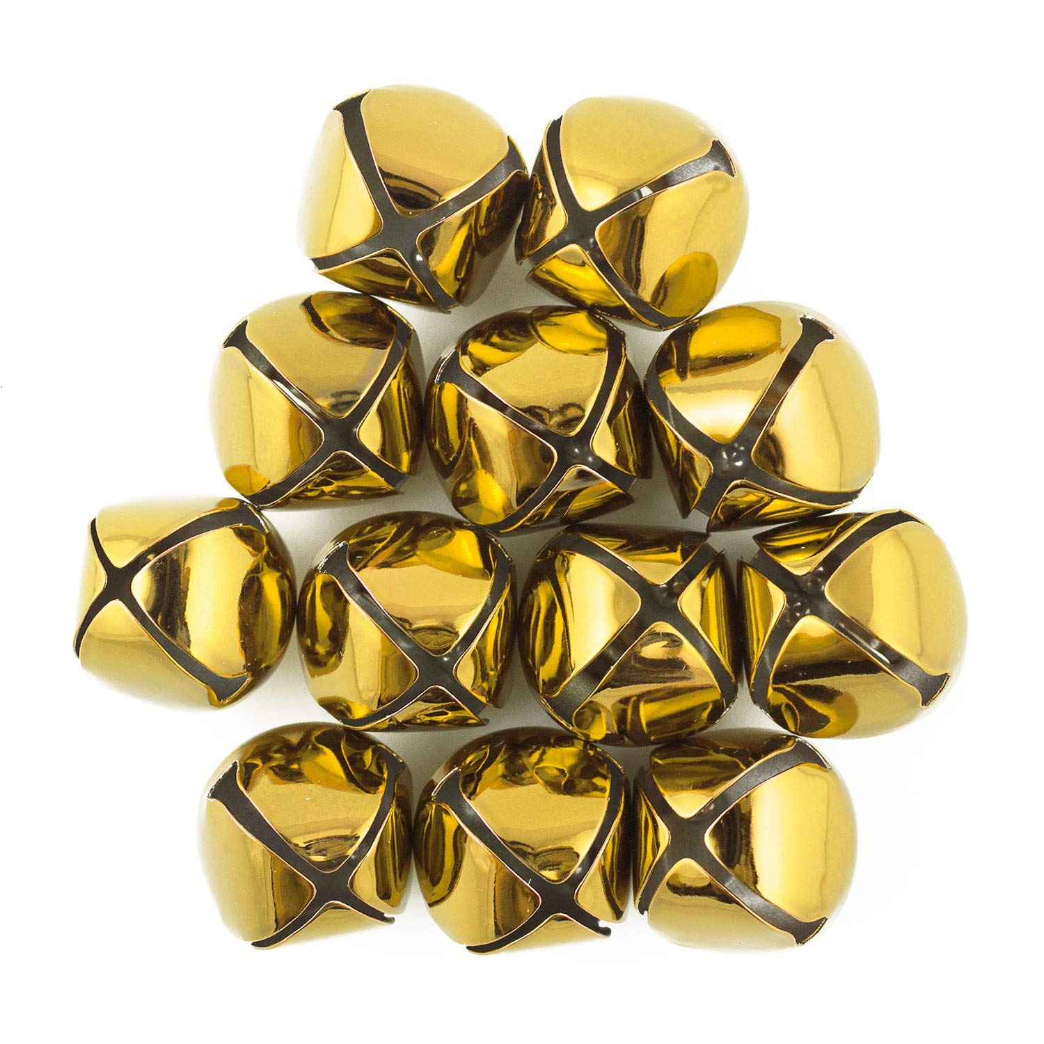 1.5 Inch 36mm Extra Large Giant Jumbo Craft Gold Jingle Bells Bulk 100 Pieces by Art Cove (Image #1)
