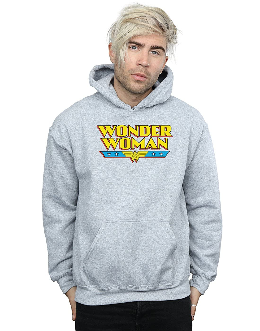 DC Comics Herren Wonder Woman Text Logo Kapuzenpullover