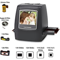 """DIGITNOW! 22MP Escáner de Negativos y Diapositivas, Convertidor Digital con 2,4"""" LCD para 35 mm/Super 8/110/ 126 película"""