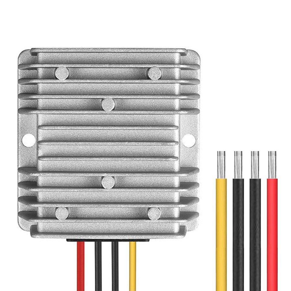 Dc 36V 48V to 12V Voltage Regulator 10A 120W Step Down Buck Converter Waterproof for Golf Cart