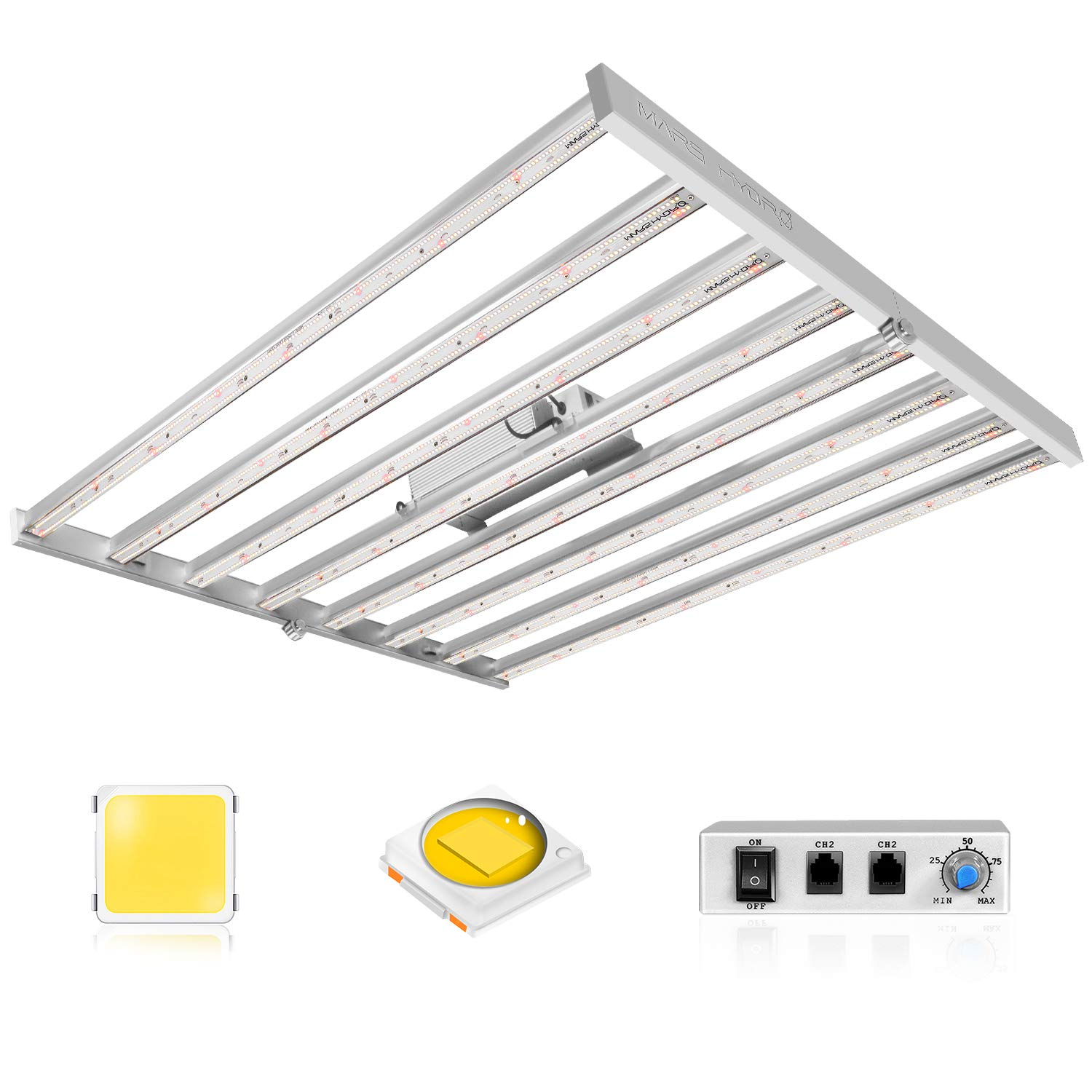 MARS HYDRO FC6500 LED Grow Light 5x5ft with 2688pcs Samsung LM301B Osram Diodes Inventronics Driver Upgraded Full Spectrum Commercial Growing Light for Plants Dimmable Daisy Chain 2.8 umol/J