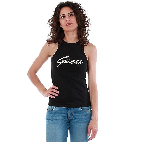 Guess - Camiseta - Sin Mangas - para Mujer, Color, Talla XL: Amazon.es: Zapatos y complementos