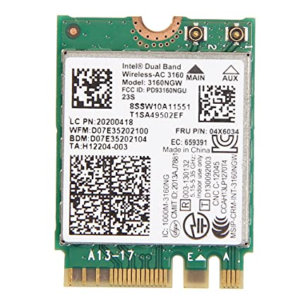 Lenovo Intel Dual Band Wireless-AC 3160 3160NGW 04X6034 for Lenovo Y40 Y50 E10-