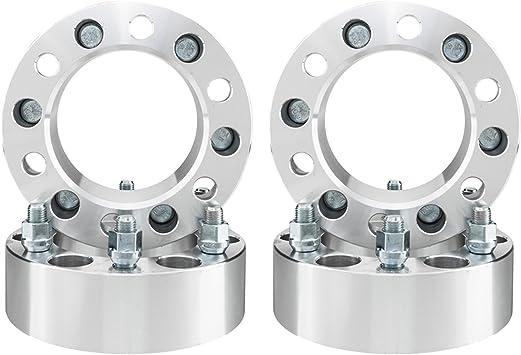 Wheel Spacers,ECCPP Wheel Spacer Adapters 6 lug 4X 2 50mm 6x5.5 6x139.7 14x1.5 studs for 2003-2012 Cadillac Escalade Chevy Express Suburban Silverado GMC Sierra Savana 1500 Yukon